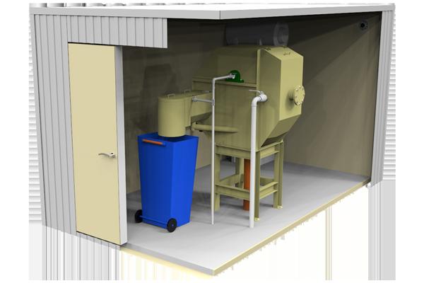 Gamybos nuotekų mechaninio valymo irenginiai