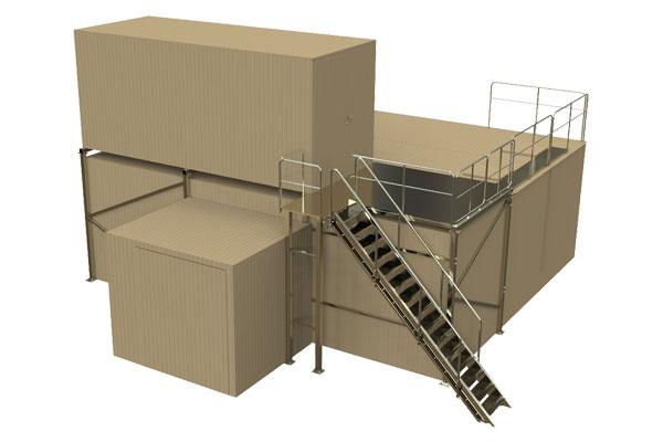 Pramoninis valymo įrenginys gamybinėms nuotekoms valyti